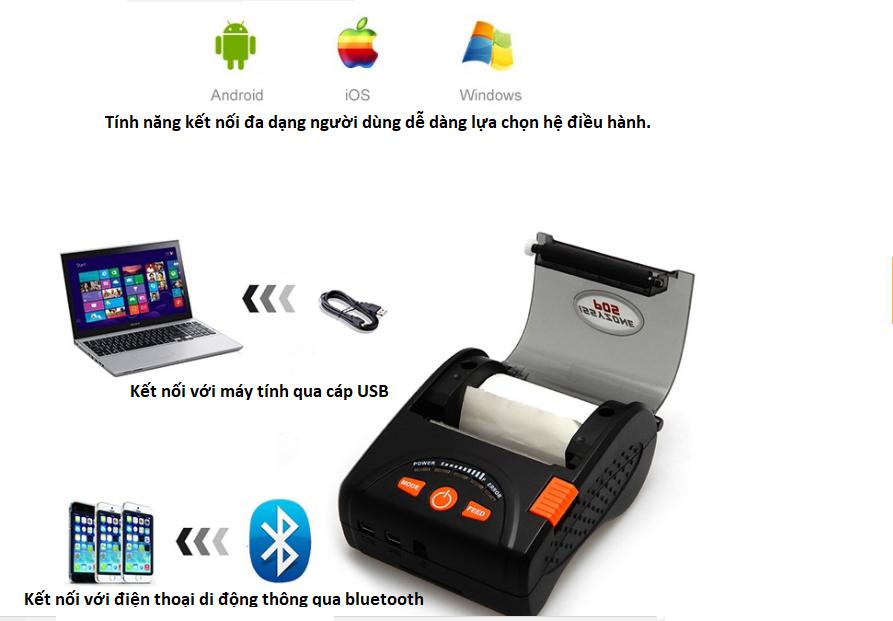 Máy in hóa đơn Issyzone IMP001 cổng kết nối Bluetooth - ảnh 1
