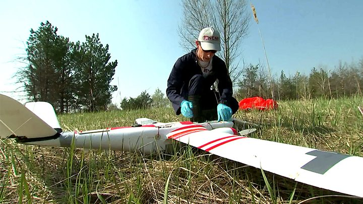drone being prepared for survey
