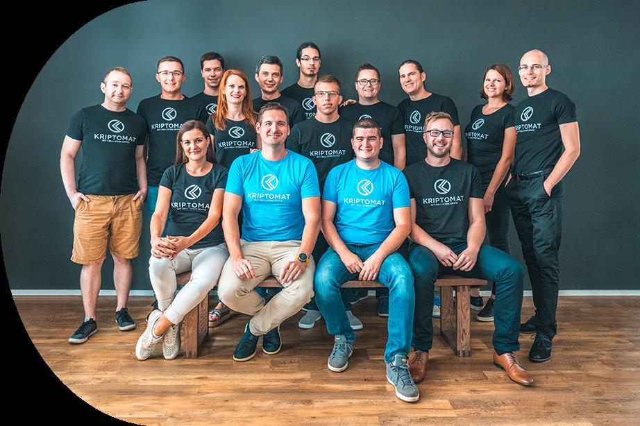 L'équipe de Kriptomat, un exchange solide pour acheter et vendre Bitcoin et autres cryptomonnaies