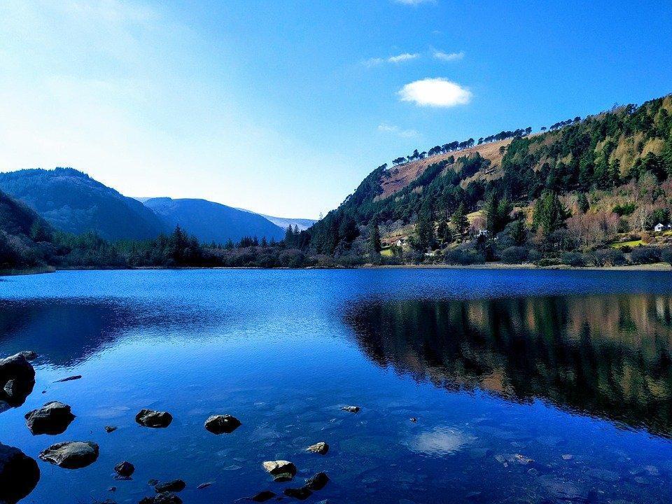 Irlanda, Wicklow, Lago, Montañas, La Naturaleza