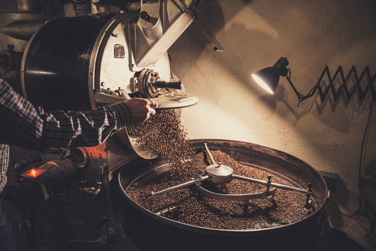 Image of coffee roasting by third wave coffee roaster
