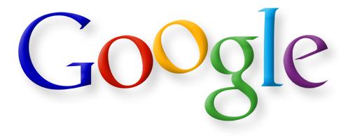 Vroege herhaling van het Google-logo door Ruth Kedar, inclusief een gestegen O