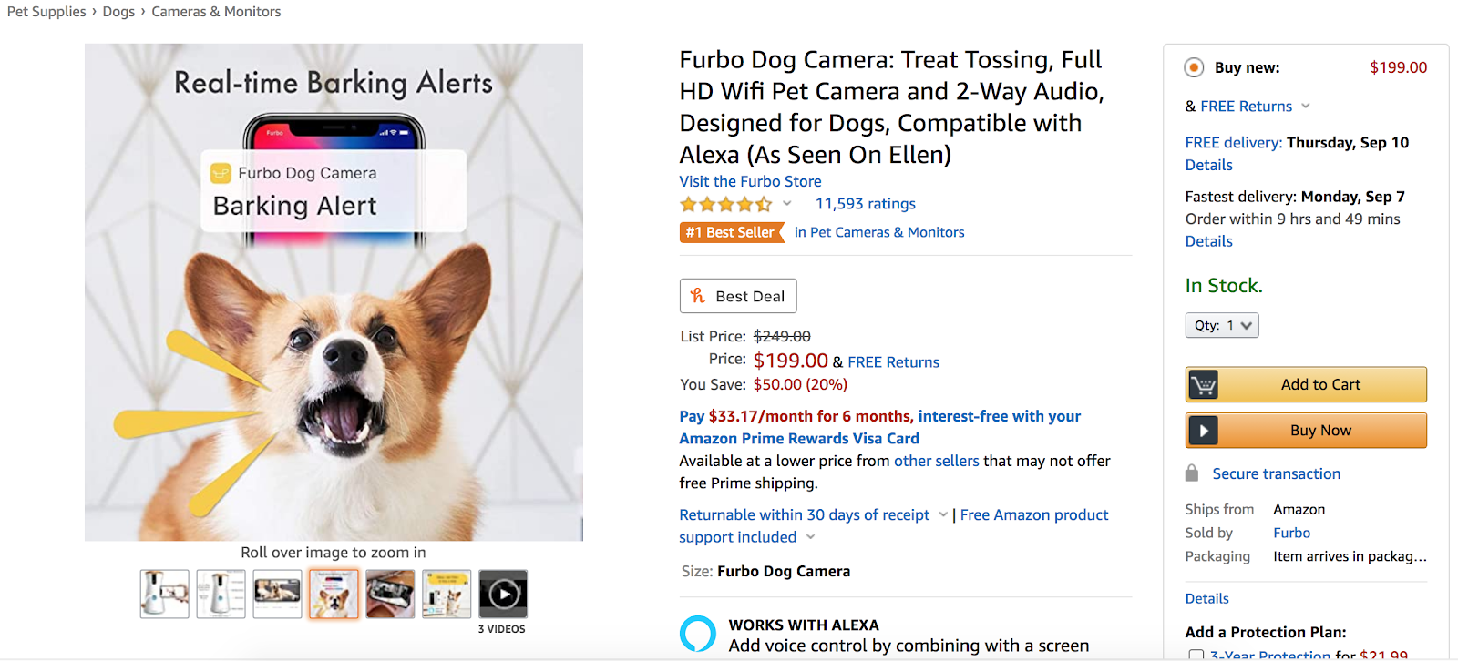 Amazon product listing optimization with image