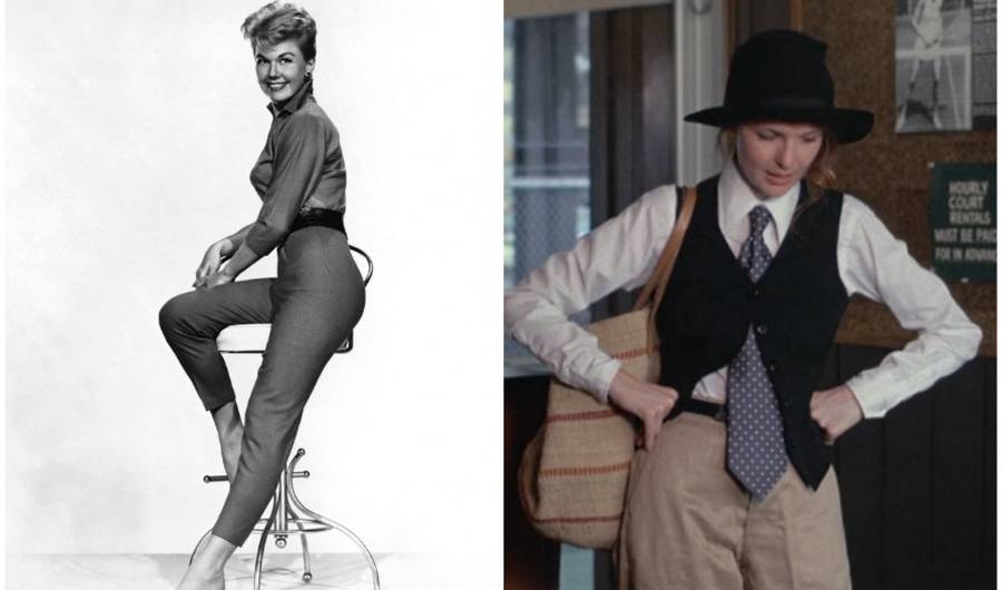 fashion dictatesd no pockets in women's wear but Annie Hall didn't buy that