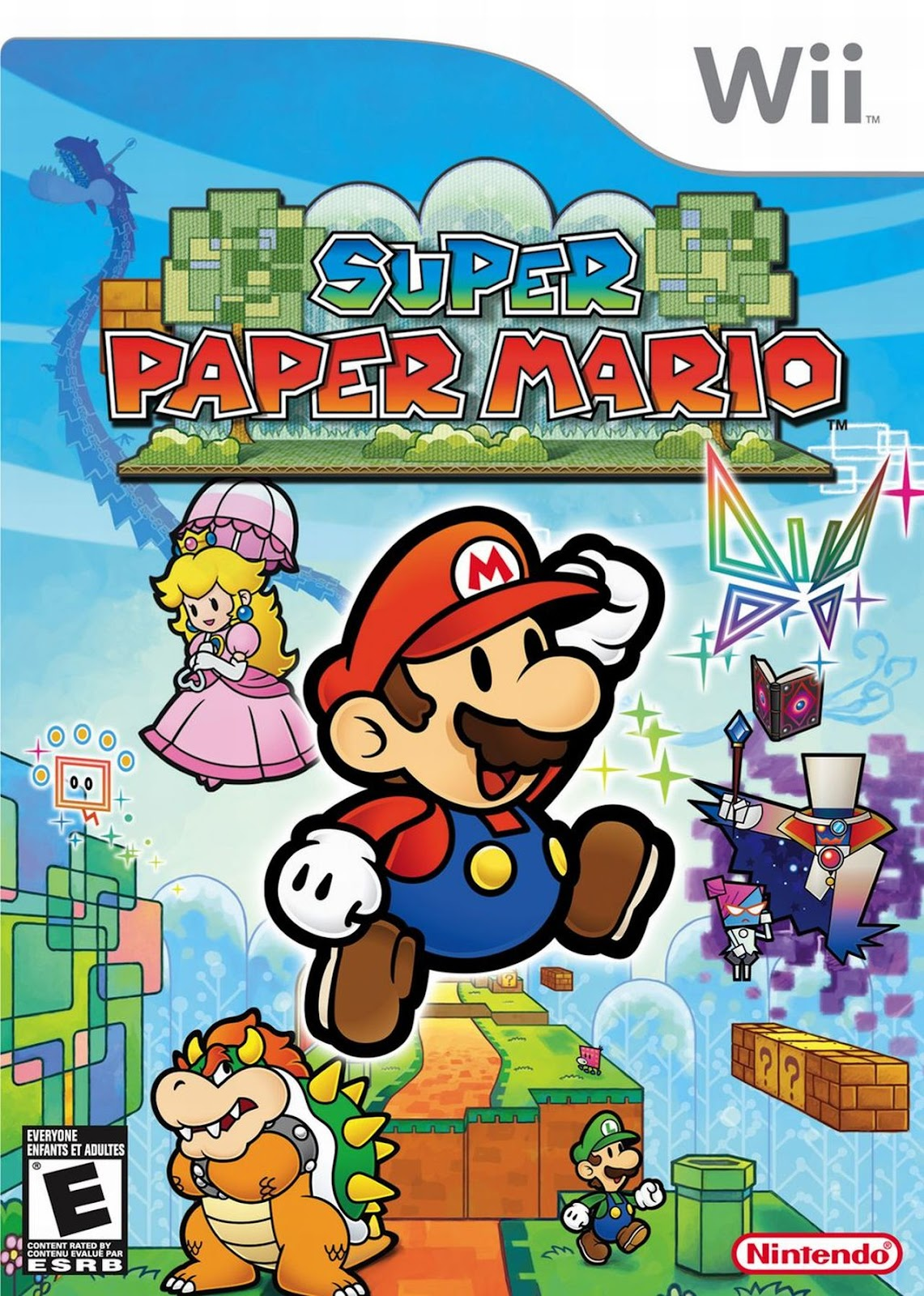 Image result for super paper mario wii cover