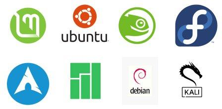 various linux distributions logo