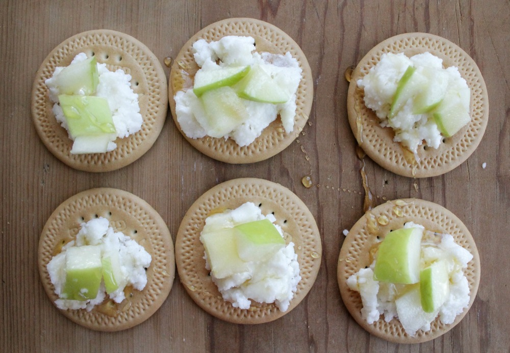 Mexican Cookies Topped With Queso Fresco and Drizzled with Honey.jpg