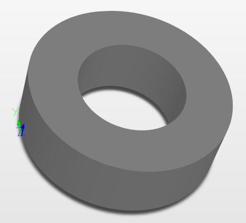 Das Umschalten auf 3D-Modus zeigt die fertiggestellte 3D-Ringform.