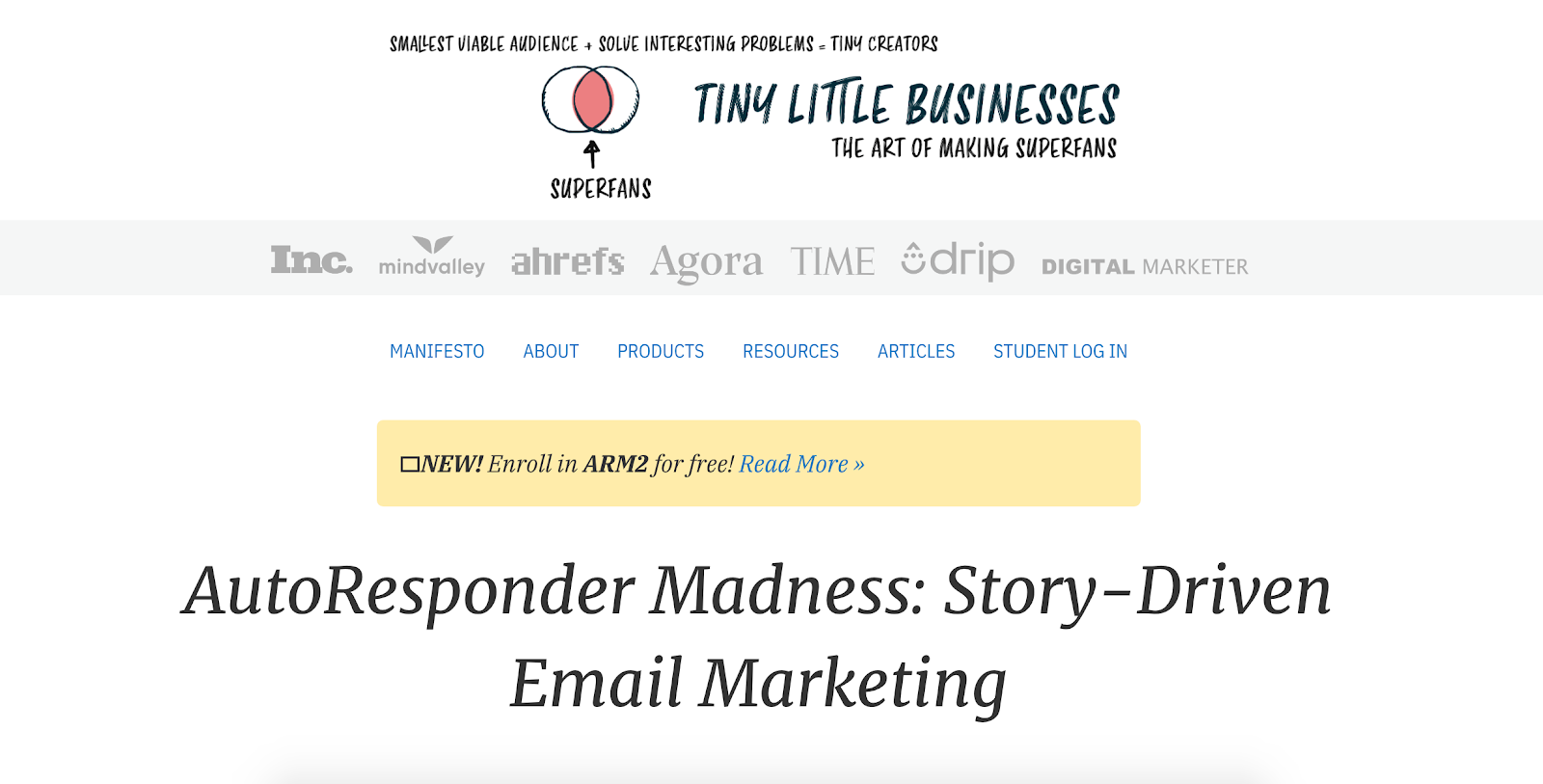 AutoResponder Madness Course - Story-Driven Email Marketing