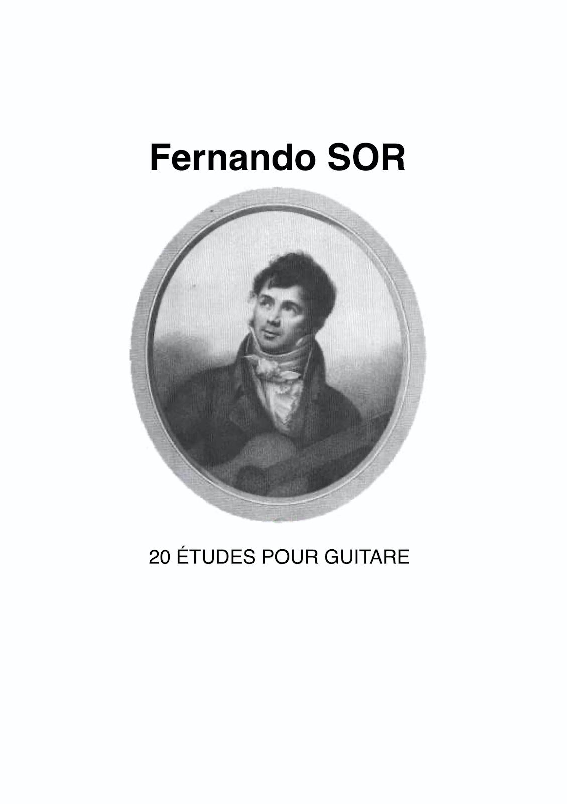 دانلود کتاب ۲۰ اتود گیتار کلاسیک فرناندو سور