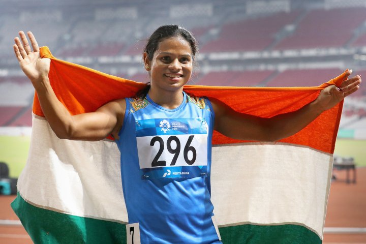Dutee Chand celebrates a historic feat