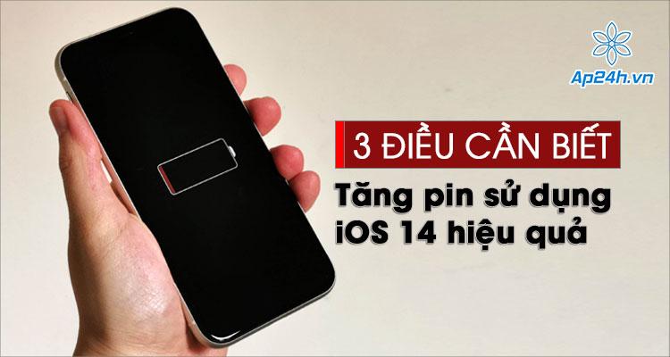 Tăng thời gian sử dụng pin iPhone hiệu quả