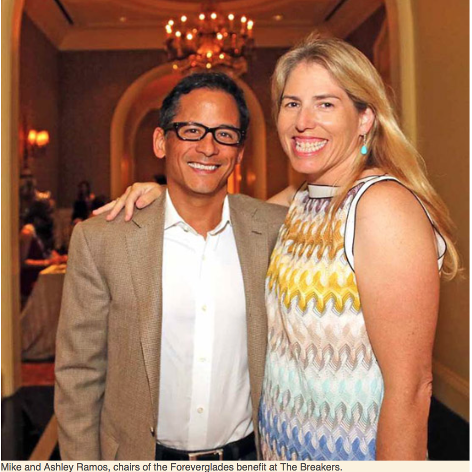 Karen Klopp, Hilary Dick article for New York Social Diary, What to Wear Everglades foundation party at thme breakers Mike & Ashley Ramos