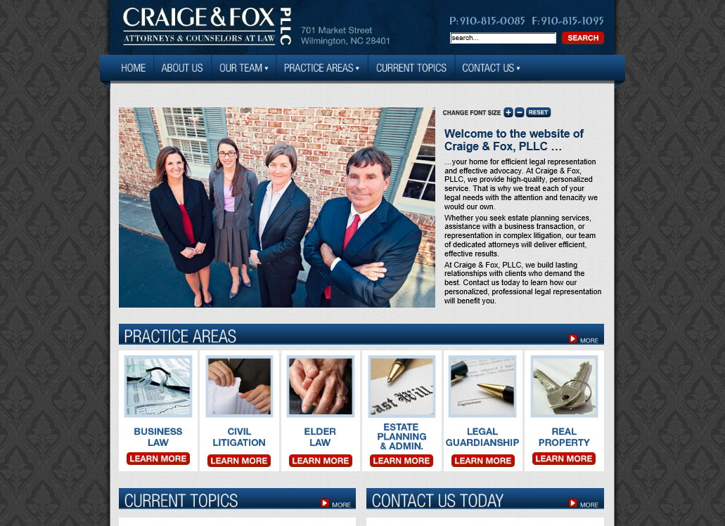 Craige & Fox PLLC - Attorneys Wilmington NC