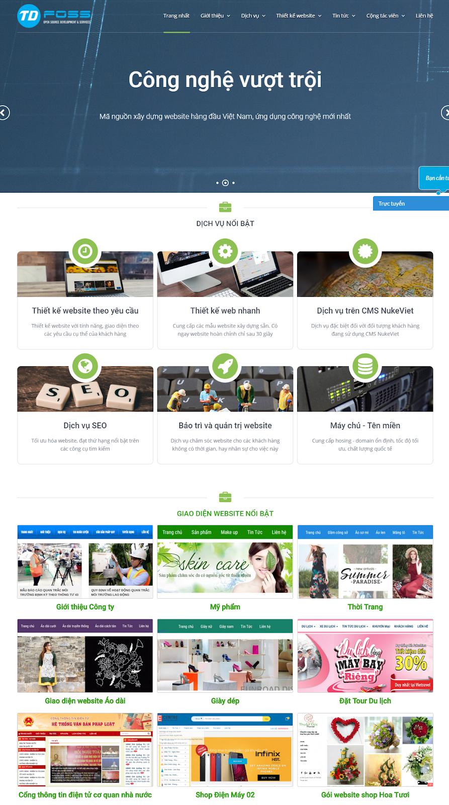 TDFOSS đơn vị thiết kế website chuẩn SEO chuyên nghiệp được nhiều khách hàng tin tưởng trên thị trường hiện nay