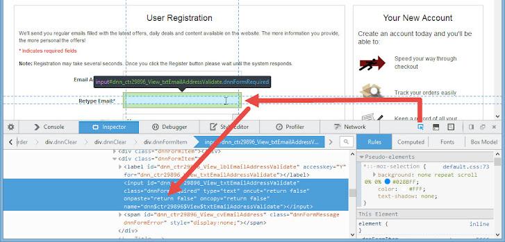 Cyberfox, Dev. Mode > Inspector > Pick an element > modify onpaste=true