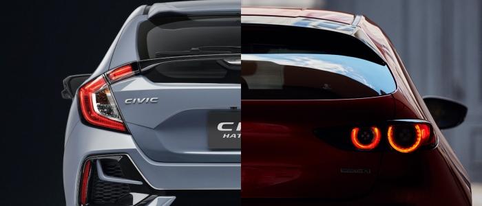 เปรียบเทียบด้านหลังรถ