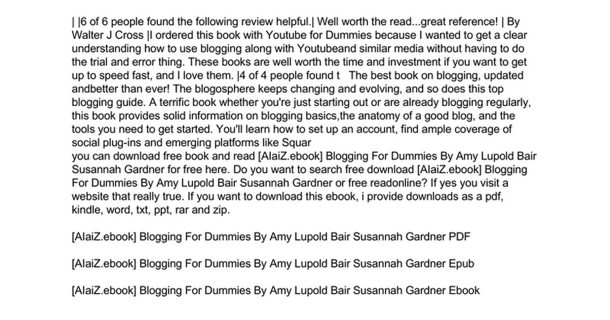 blogging-for-dummies doc - Google Drive