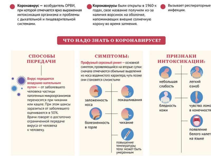 Что нужно знать о коронавирусе, полезная памятка для взрослых и детей