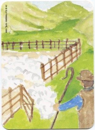 Карта из колоды метафорических карт Ох: пастух и овцы