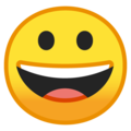 Grinning Face on Google Android 8.1