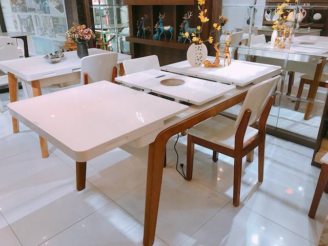 Nhược điểm của bàn ăn thông minh chính là đem lại cảm giác hơi bất tiện khi gập bàn lên xuống