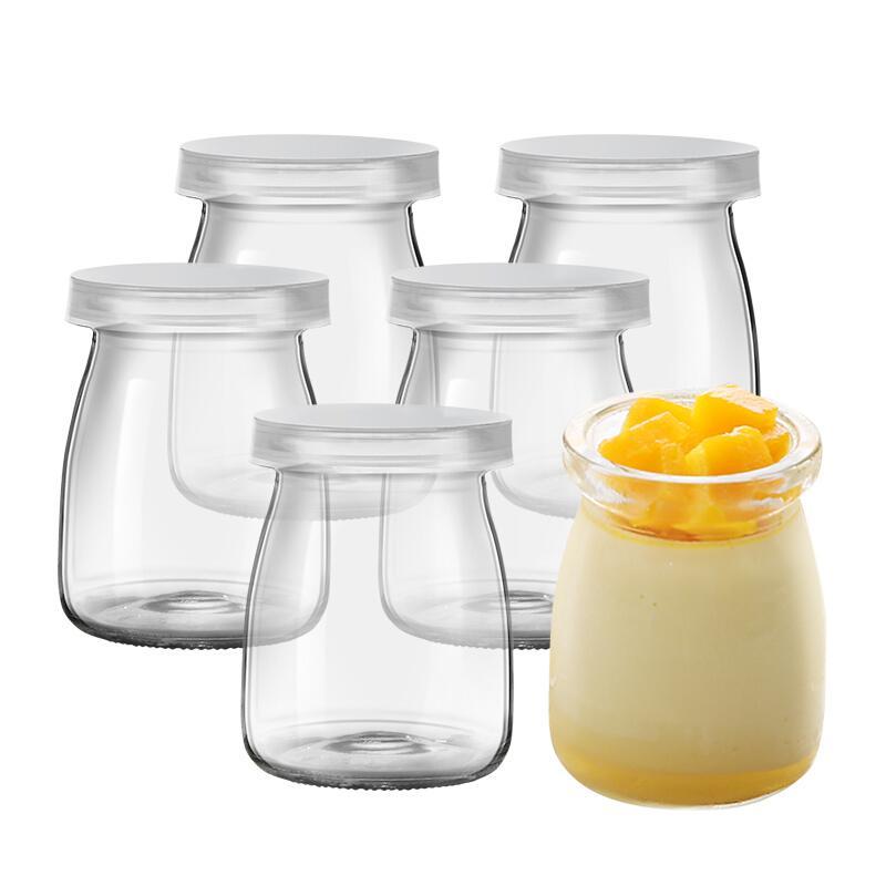 12 hũ thủy tinh đựng sữa chua trơn