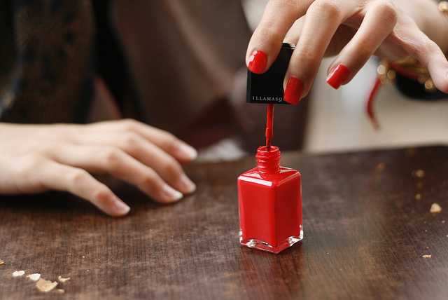 red nail polish toxic