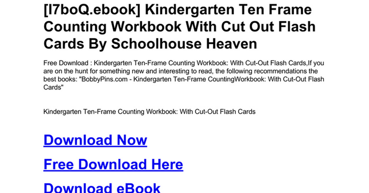 kindergarten-ten-frame-counting-workbook-with-cut-out-flash-cards ...