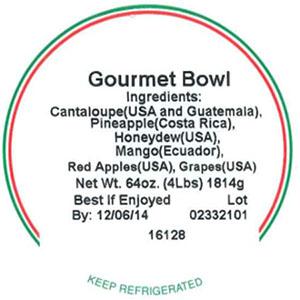 Label, Gourmet Bowl, 64 oz.