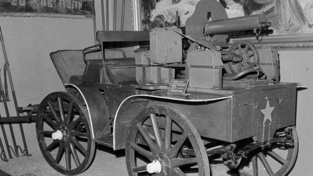 Пулементная тачанка периода Гражданской войны