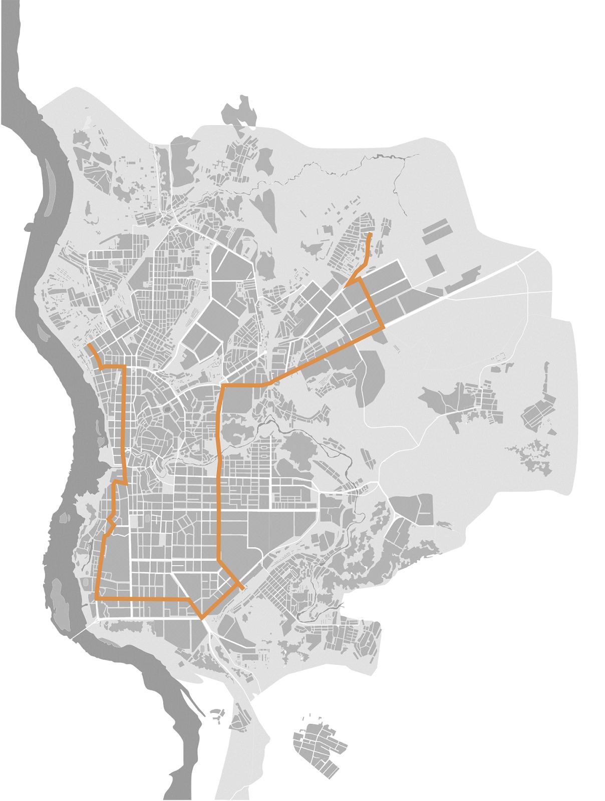 схема поездки 43 маршрутки