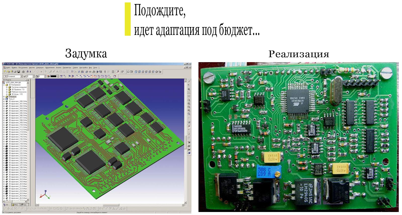 прототип электронной платы