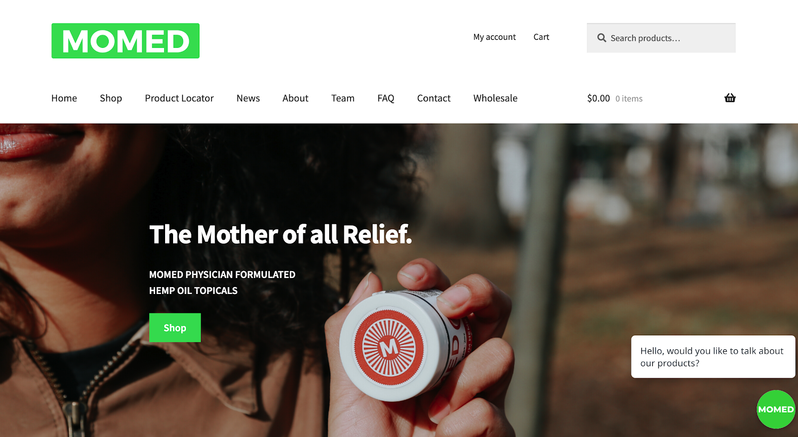 MoMed | Hemp Oil Pain Relief Products