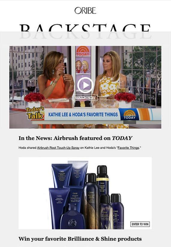 Oribe - Email Marketing Campaign - Email Newsletter & Product Announcement