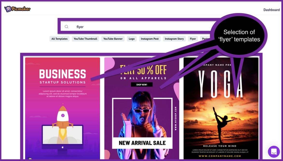 How to create a business flyer - step 2 -screenshot 2