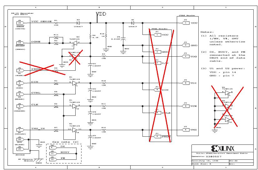 Схема Xilinx JTAG Download