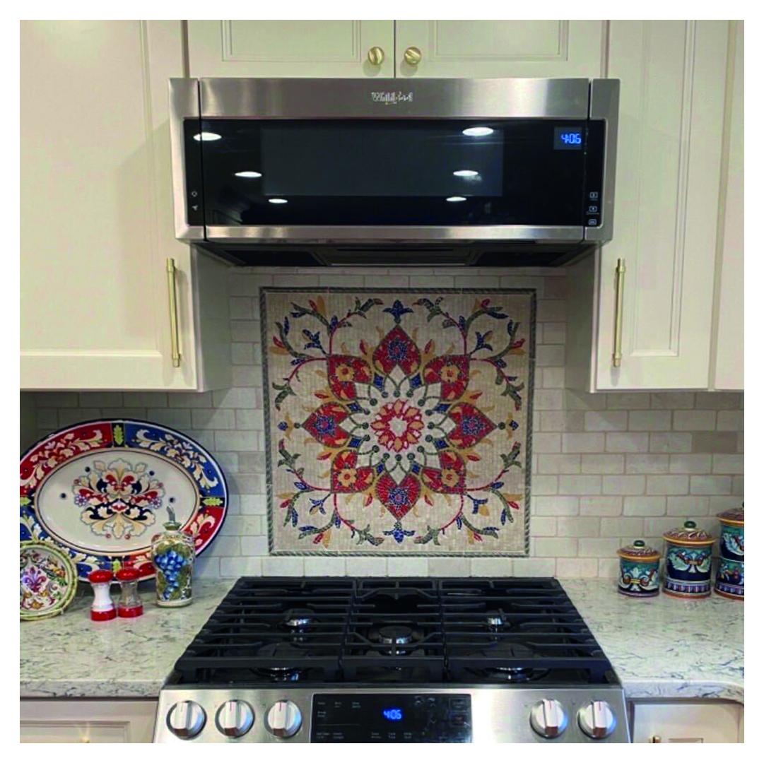 Kitchen Mosaic Backsplash by Mozaico