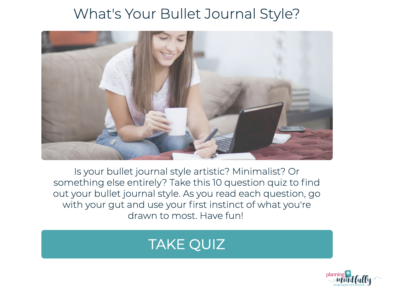 What's your bullet journal style quiz cover