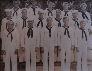 1942 Norfolk, VA. Part of Company D. Red is in the back row, middle