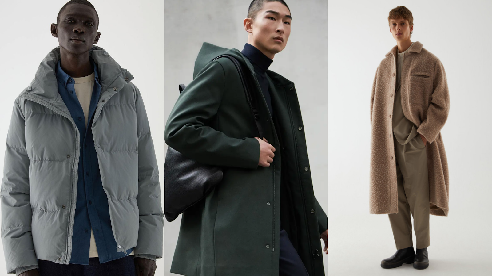 Shop men's winter outfits from COS
