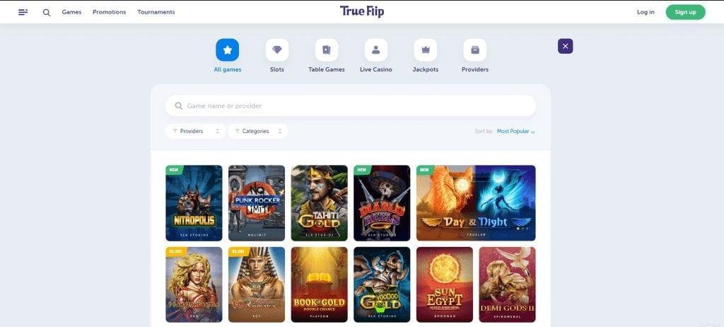TrueFlip casino games