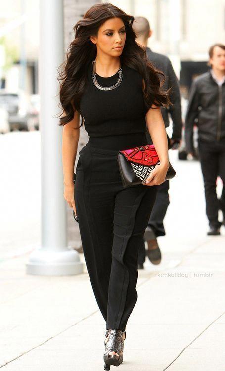 #kim kardashian, #street style, #jumpsuit #streetstylejumpsuit