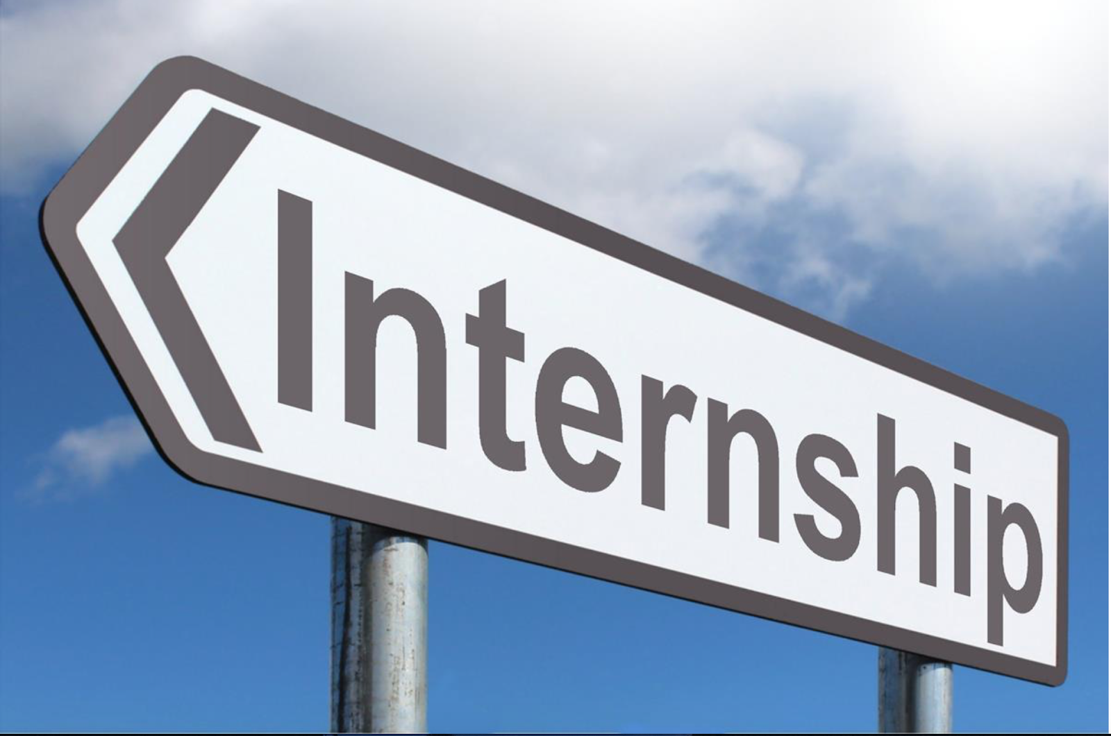 Sign saying INTERNSHIP pointing the other way