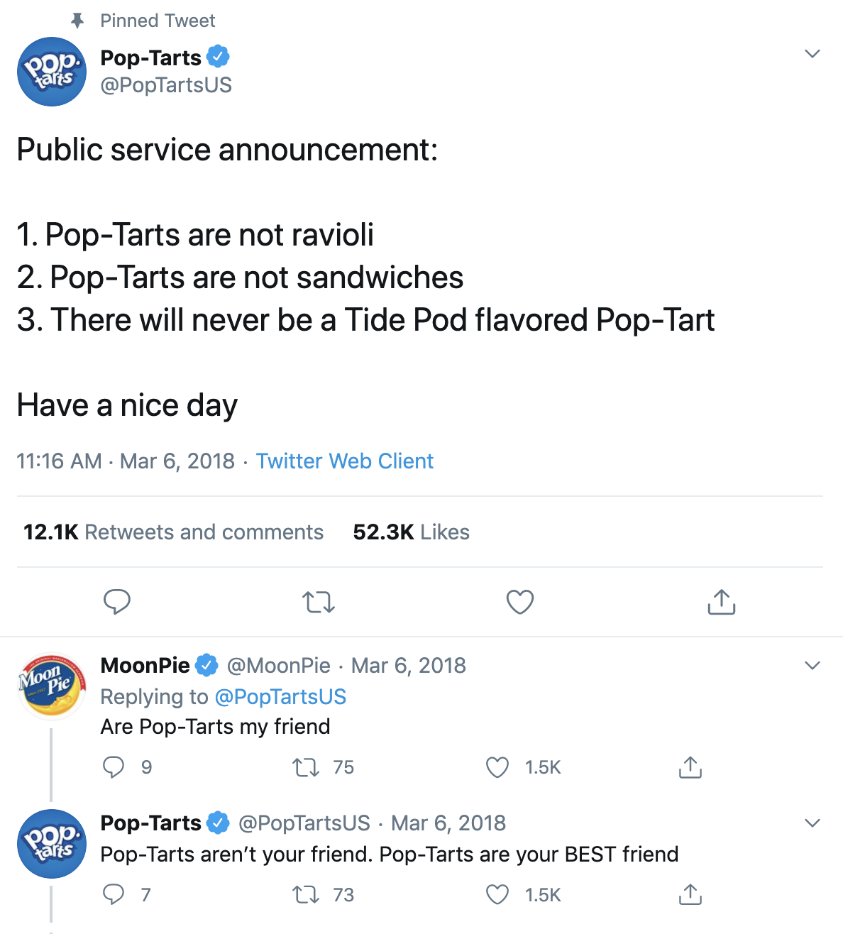 Pop Tart Twitter Example