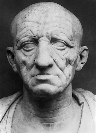 Head of a Roman Patrician. Marble.