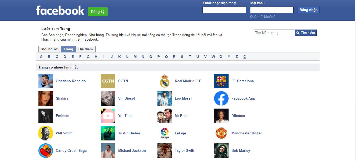 tìm kiếm thông tin trên facebook directory