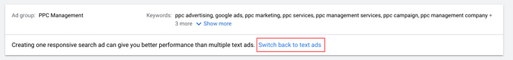 How to add expanded text ads to your ad group