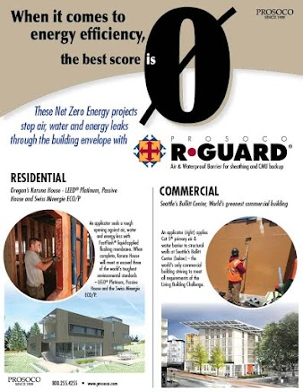 2-sided flyer on net-zero enrgy efficiency in residential/commercial