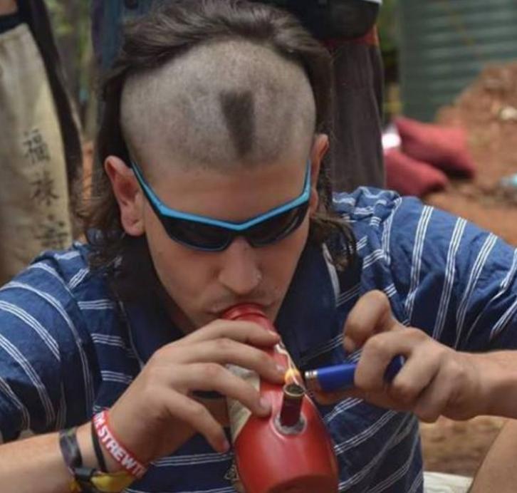 hippie and cannabis